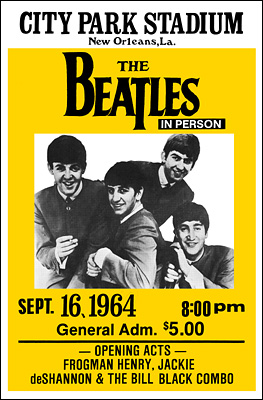 The Beatles New Orleans 1964 Concert Poster