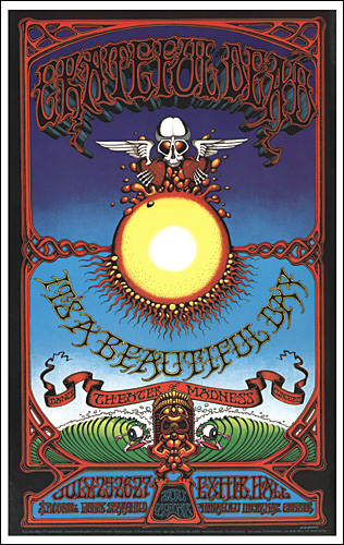 Grateful Dead Concert Posters Its A Beautiful Day Concert Poster