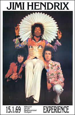 Jimi Hendrix Experience Germany Concert Poster