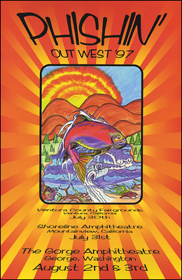 Phish Concert Posters Phishin Out West Concert Poster