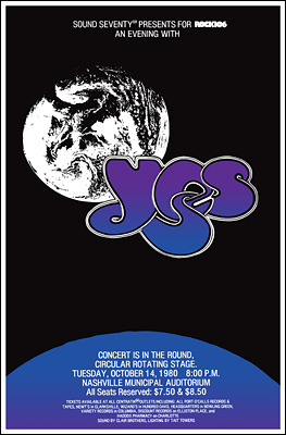 Yes Concert Poster