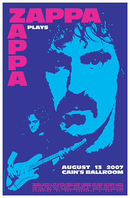 Zappa Plays Zappa Concert Posters