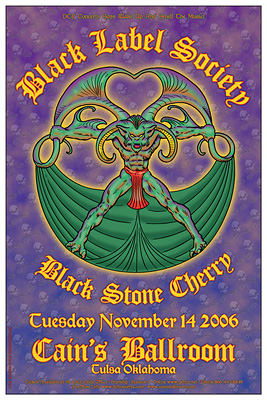 Black Label Society Concert Posters