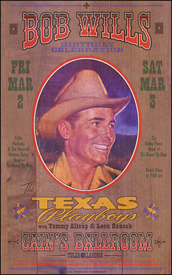 Bob Wills Texas Playboys Concert Posters