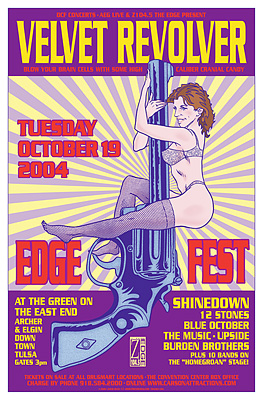 Velvet Revolver and Shinedown at Edgefest 2004 Concert Posters