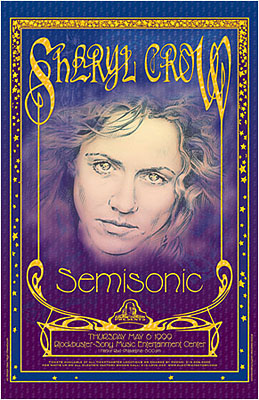 Sheryl Crow and Semisonic in Philadelphia Concert Posters