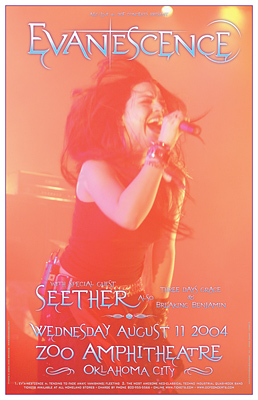 Evanescence and Seether Concert Posters