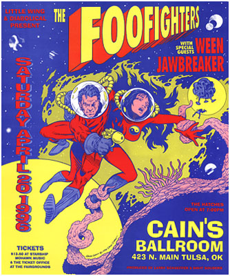 Foo Fighters Concert Posters