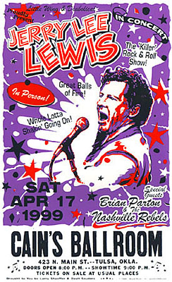Jerry Lee Lewis and Brian Parton Concert Posters