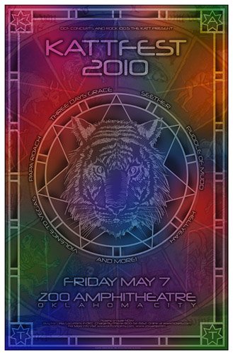 KattFest 2010 Three Days Grace Seether and others Concert Poster