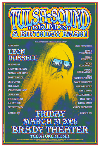 Leon Russell 2006 Tulsa Concert Poster