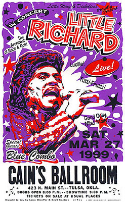 Little Richard Concert Posters with Blue Combo