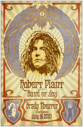 Robert Plant at the Brady Concert Poster