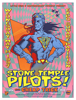 Stone Temple Pilots and Cheap Trick Concert Posters