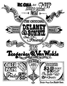 Delaney and Bonnie and Friends Concert Poster