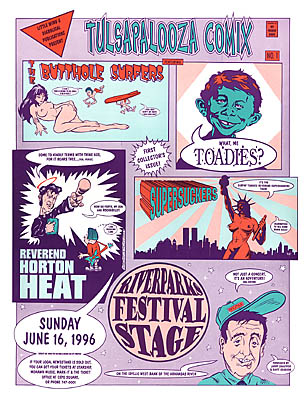 Butthole Surfers, Toadies, Rev Horton Heat, Supersuckers Concert Posters